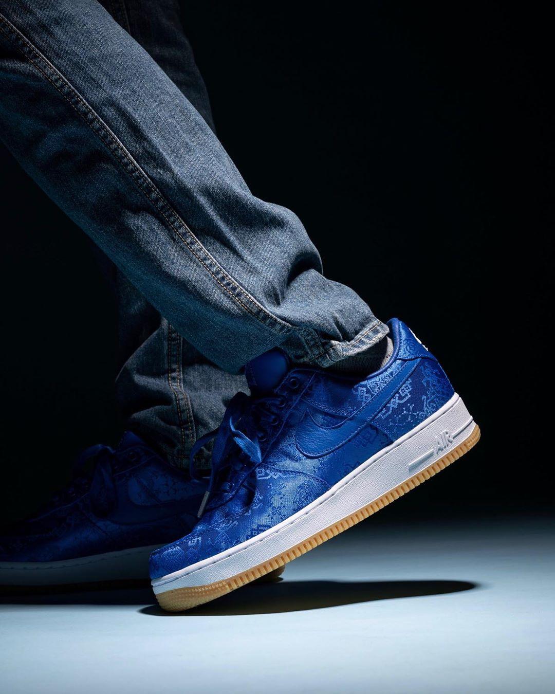 蓝丝绸,CLOT,Nike,Air Force 1 Low, 原价入手的最后机会!「蓝丝绸」CLOT x AF1 官网链接曝光!