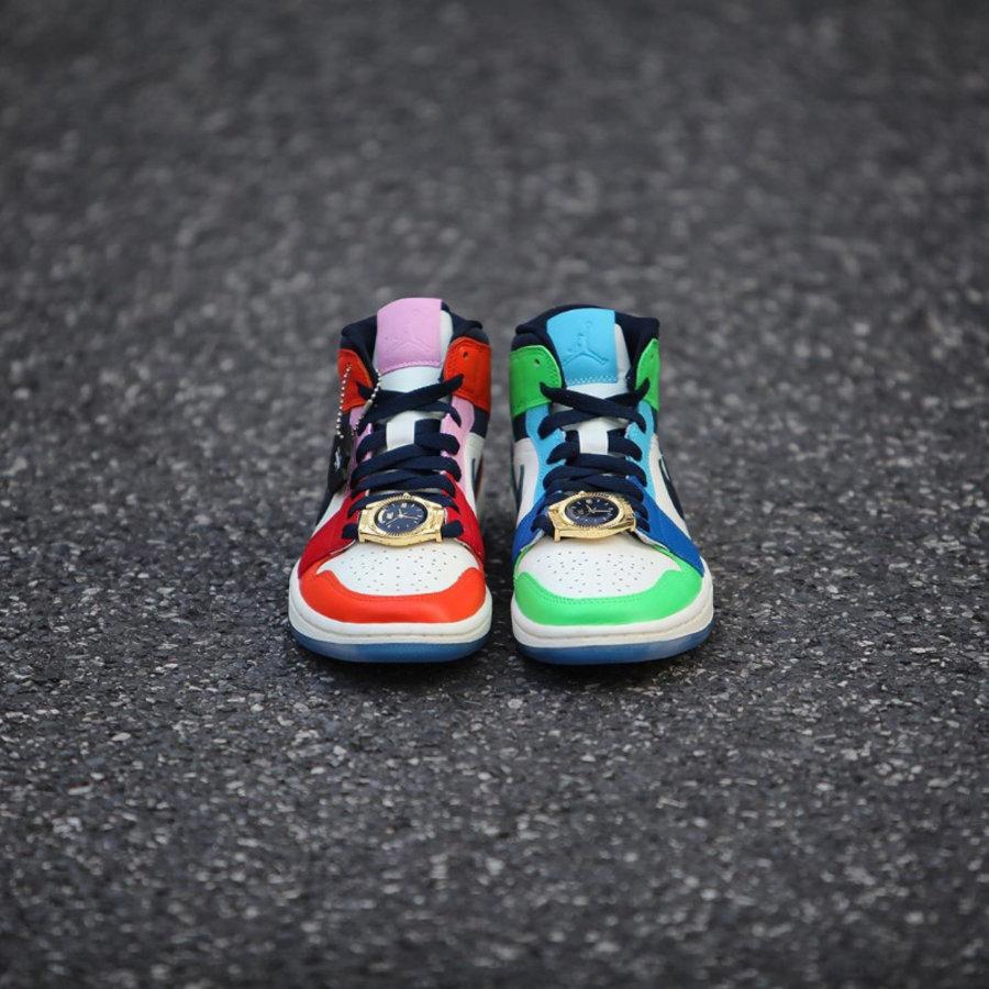 Air Jordan 1 Mid,AJ1,发售,开箱,CQ7 丰富细节 + 鸳鸯配色!大金表 Air Jordan 1 Mid 本周发售