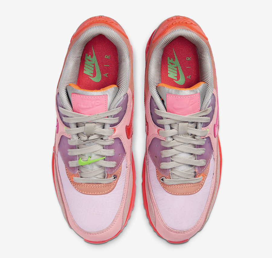 Air Max 90,Nike,发售,CT3449-600 绚丽粉色装扮!全新 Air Max 90 本周即将发售