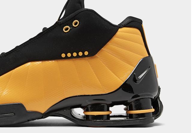 Nike,Shox BB4,发售,AT7843-002  高规格牛巴革鞋面!黑黄 Nike Shox BB4 下月发售
