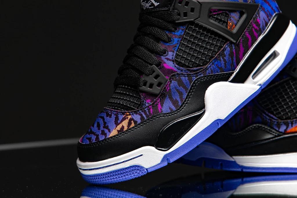 Air Jordan 4,AJ4,发售,BQ9043-005 炫彩虎纹装扮!Air Jordan 4 新配色细节超多!不过...