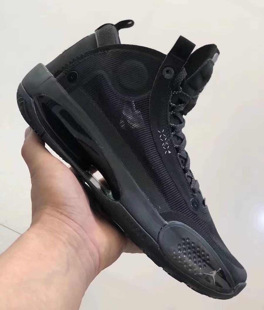 Air Jordan,Air Jordan 34 经典黑猫配色来袭!纯黑 Air Jordan 34 实物曝光