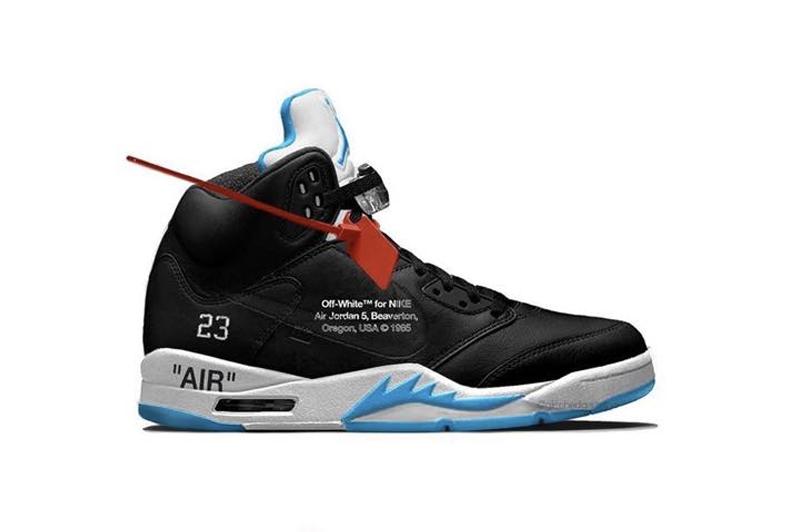 OFF-WHITE,Air Jordan 5,AJ5 鞋面竟然有钩子?!OW x AJ5 最新效果图曝光!明年全明星发售!