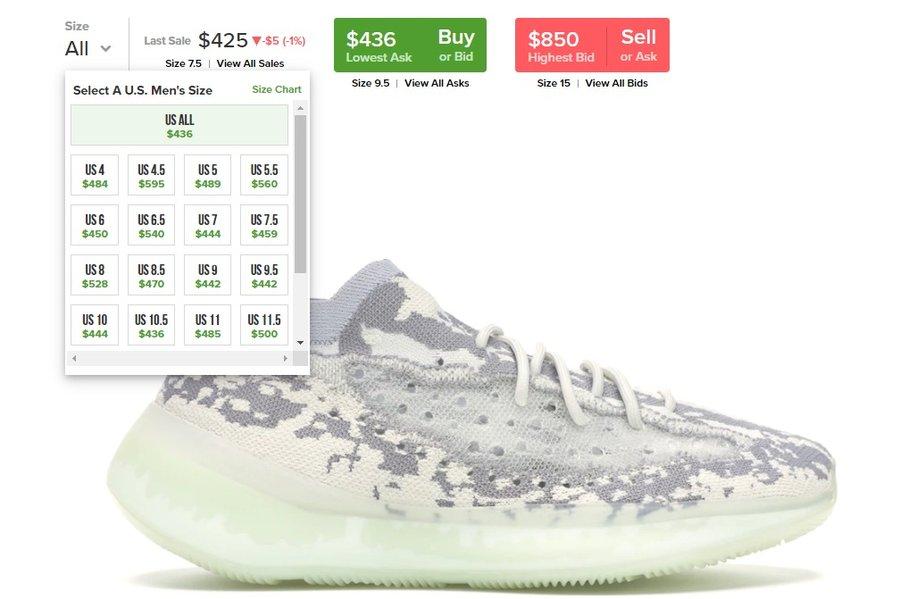 Yeezy 380, 副总裁上脚 Yeezy 380!海外市价 ¥3500,国内鞋迷等的花都谢了...