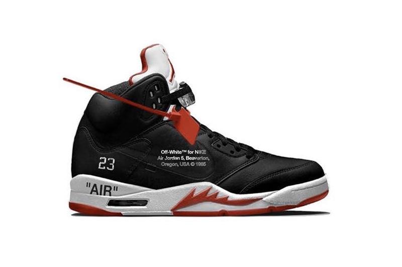 OFF-WHITE,Air Jordan 5,AJ5,发售 蝉翼材质鞋面!OFF-WHITE x AJ5 实物首度曝光!明年 2 月发售!