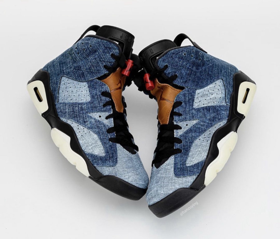 AJ,AJ6,Air Jordan 6,Washed Den  水洗丹宁拼接鞋面!牛仔 Air Jordan 6 年底发售!