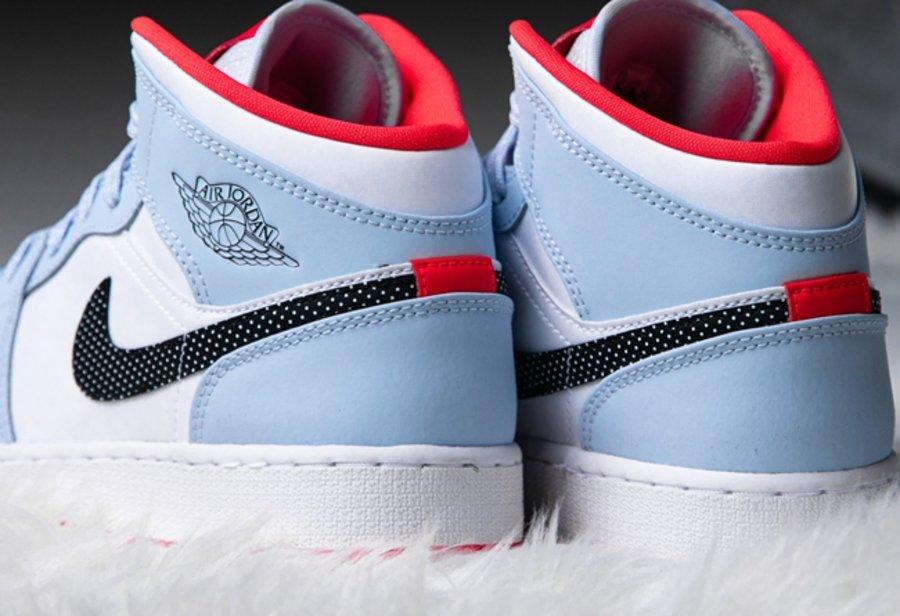 AJ,AJ1 Mid GS,555112-400 天价冰蓝配色!全新 Air Jordan 1 Mid 现已发售!但是...