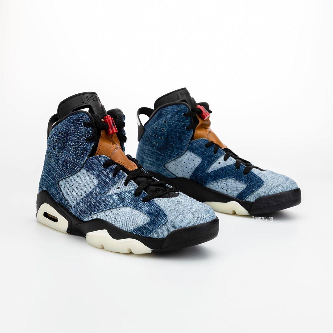AJ6,Air Jordan 6,Levis,CT5350- 堪比 Levis 联名!水洗牛仔配色 Air Jordan 6 下月登场!