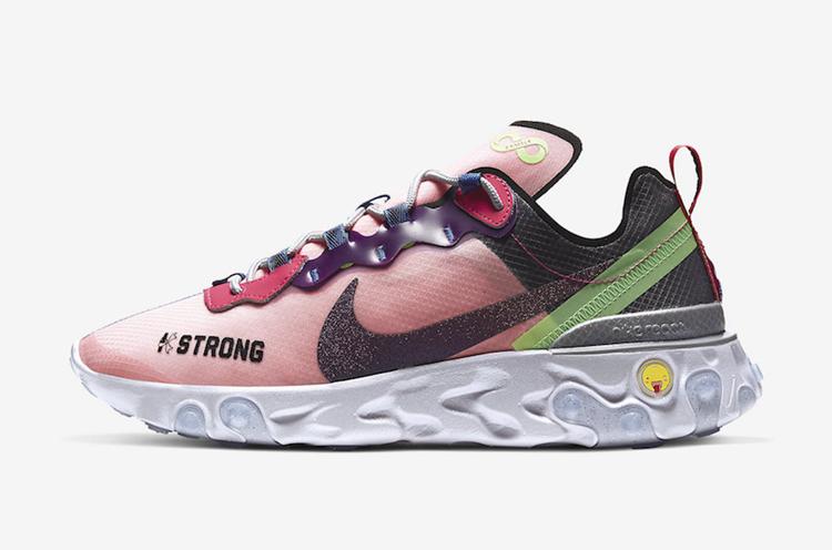 Nike,Nike React Element 55,CV2 彩色拼接鞋面!慈善系列 Nike React Element 55 下月发售!