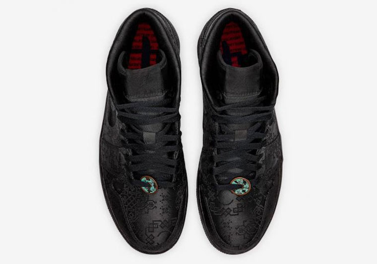 AJ1,Air Jordan 1 Mid,陈冠希 竟然还有黑丝绸 Air Jordan 1 Mid!黑色星期五发售