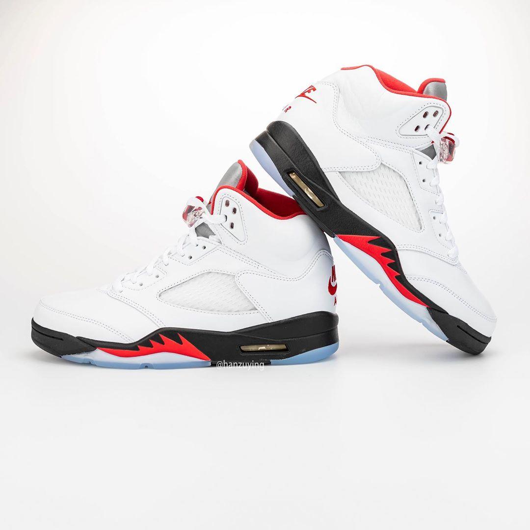 AJ5,Air Jordan 5,DA1911-102 69 分辉煌,30 周年纪念!流川枫 Air Jordan 5 实物细节完整曝光!