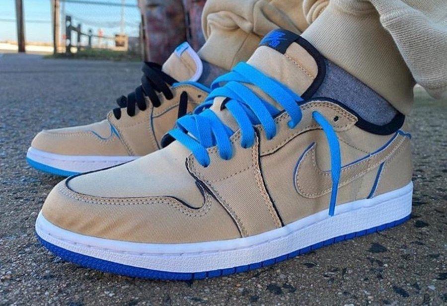 Nike SB,AJ,AJ1,Air Jordan 1 Lo  最新实物上脚!不对称刮刮乐 Nike SB x AJ1 Low 下月发售!