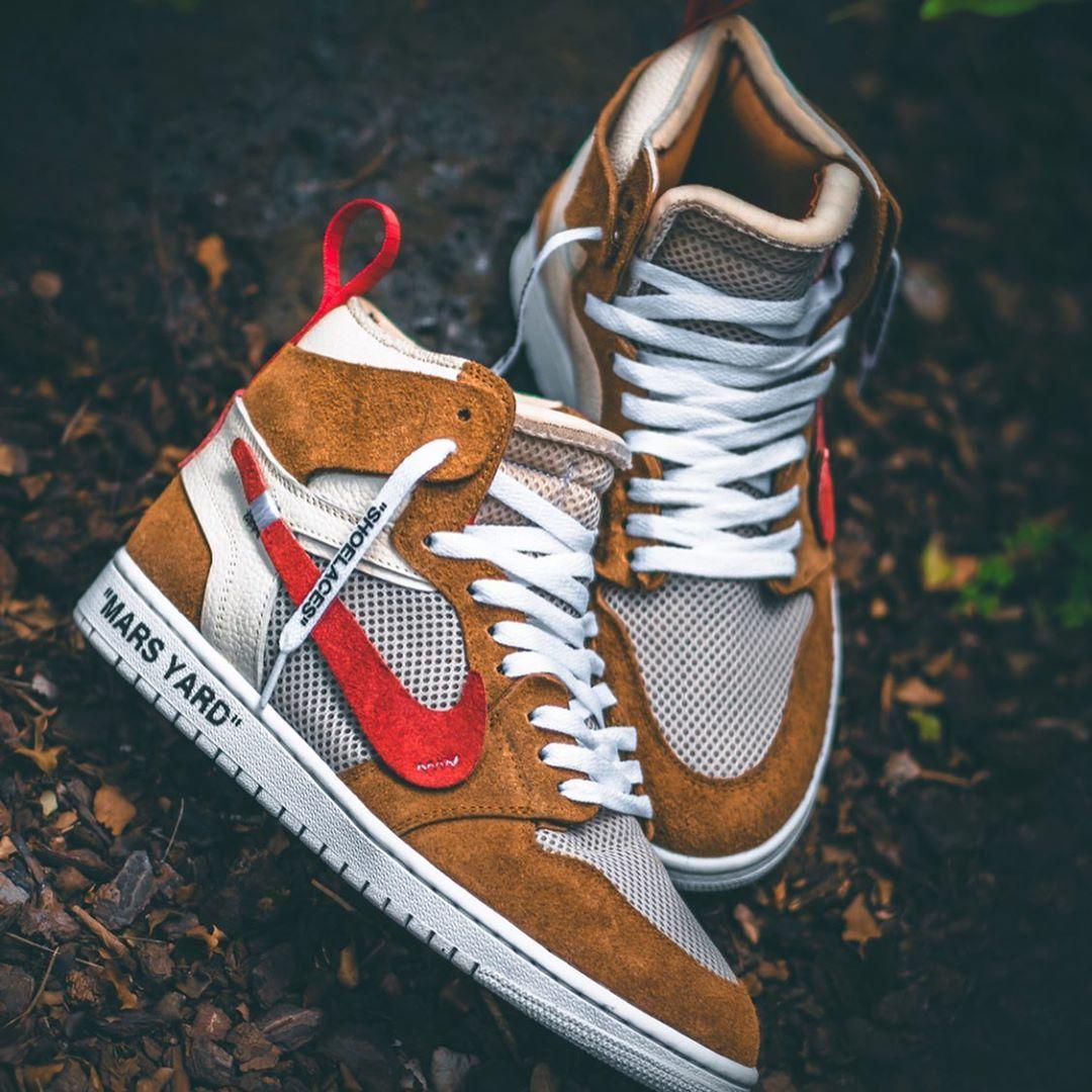 Nike,Mars Yard,OFF-WHITE,Air J 火星鞋与 OFF-WHITE x AJ1 合二为一!想买?不好意思售罄了
