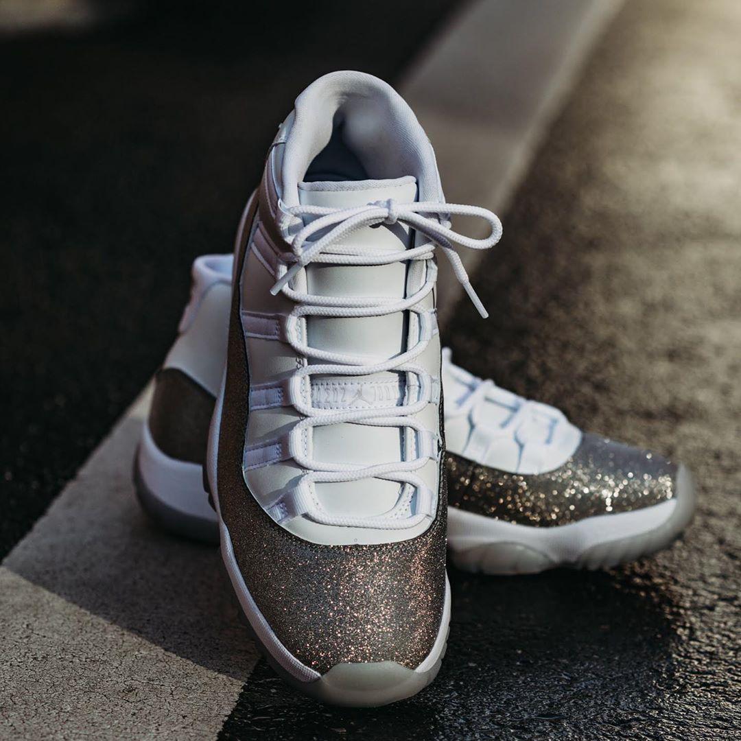 Air Jordan 11,AJ11,发售,Metallic 市价高于原价!满天星 AJ11 美图来了!本周六发售!