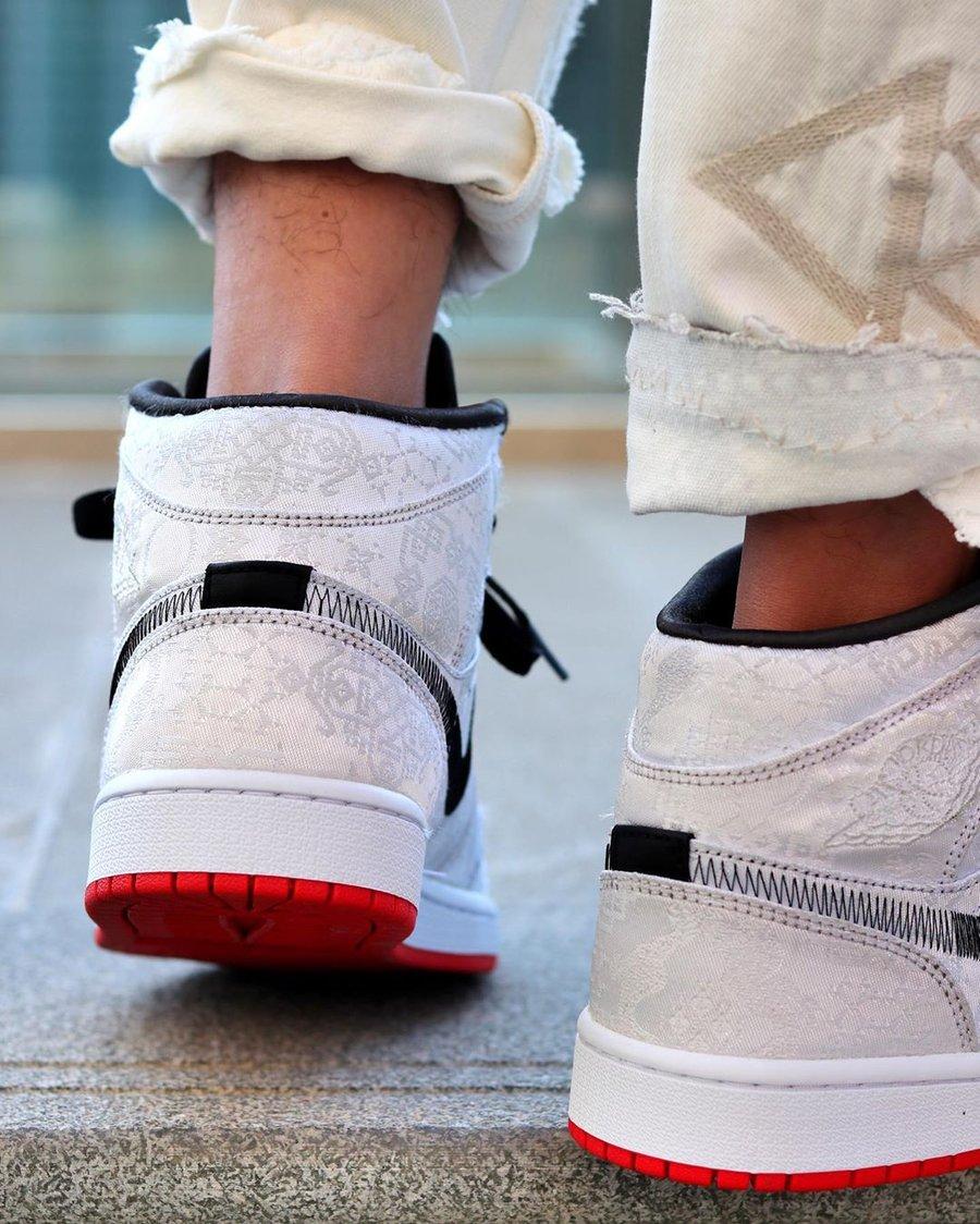 Air Jordan 1 Mid,AJ1,发售,CU2804 预售价 2000+!白丝绸 Air Jordan 1 Mid 上脚抢先看,下周发售!
