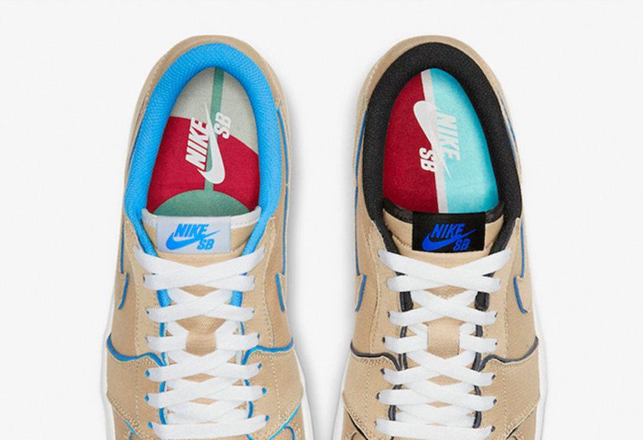 Nike SB,AJ1 Low,Air Jordan 1 L 官图终于来了!不对称刮刮乐 Nike SB x AJ1 Low 下月发售!