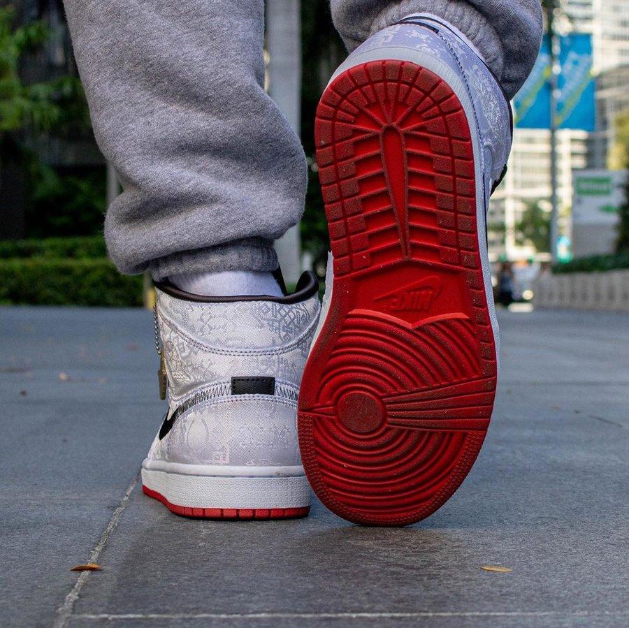 AJ1,Air Jordan 1 Mid,陈冠希,CU280 白丝绸 Air Jordan 1 Mid 上脚香吗?下周六正式发售
