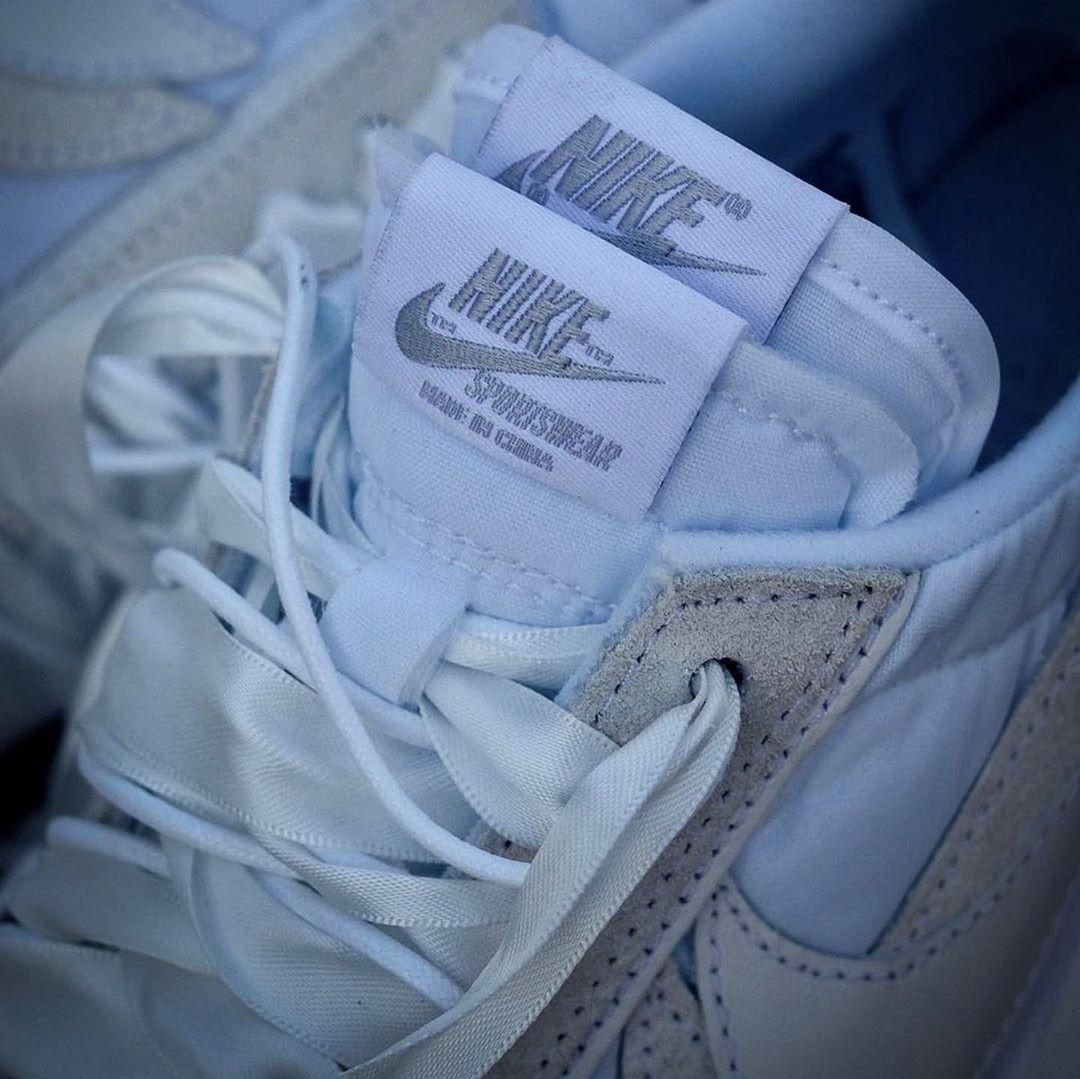 Nike,sacai,LDV Waffle,BV0073-1  质感升级,更加百搭!纯白 sacai x LDV Waffle 明年登场