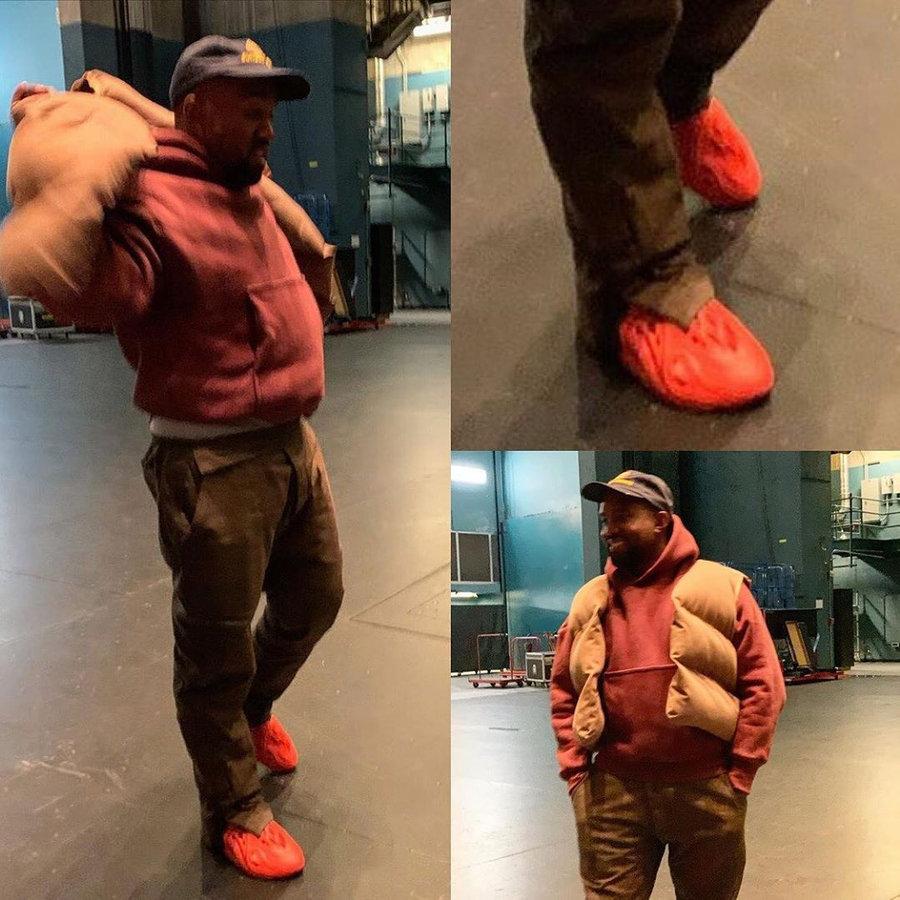 侃爷,Yeezy  为了「探查军情」,侃爷居然去专柜试了这双 Nike 新鞋!