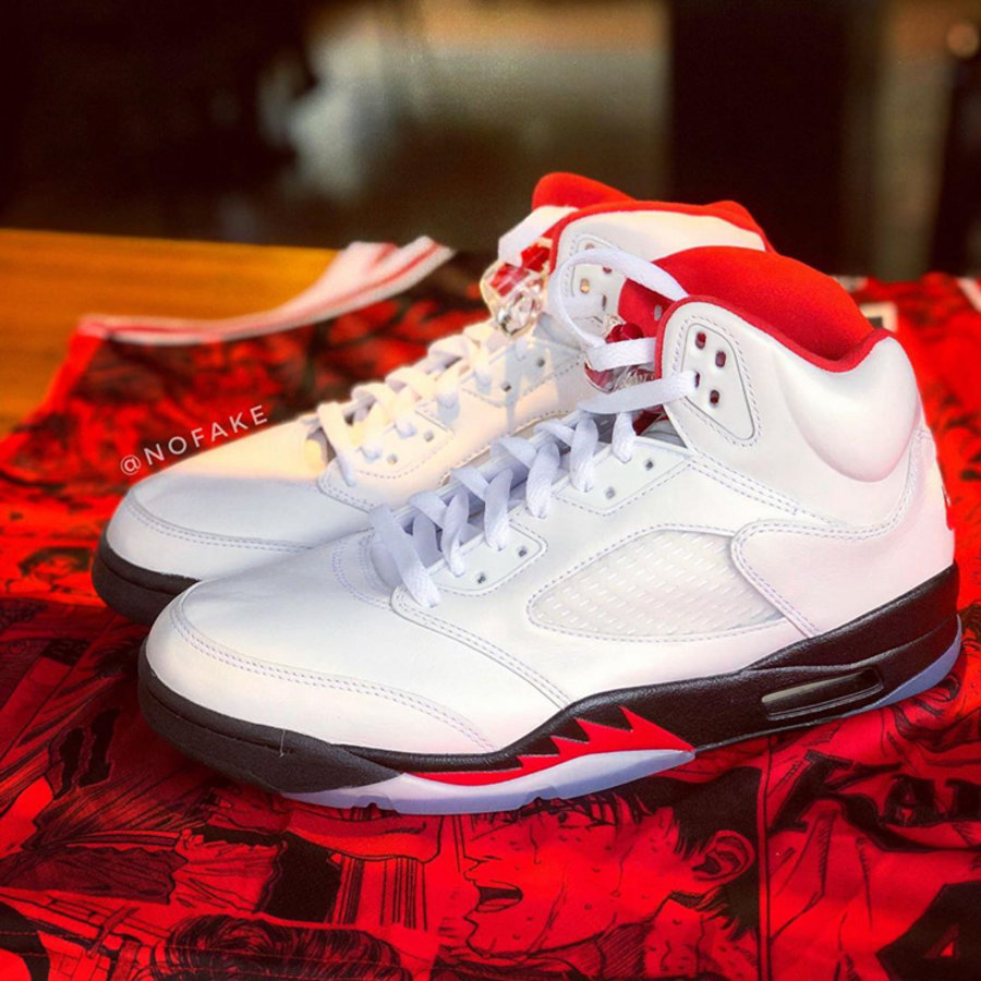 AJ,AJ5,Air Jordan 5,Fire Red,D  流川枫 Air Jordan 5 最新实物细节!预计明年 3 月发售!