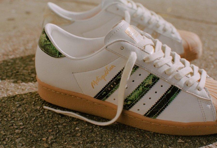 Metropolitan,adidas,Superstar 双色蛇纹装饰!Metropolitan x adidas 联名鞋款明日发售!