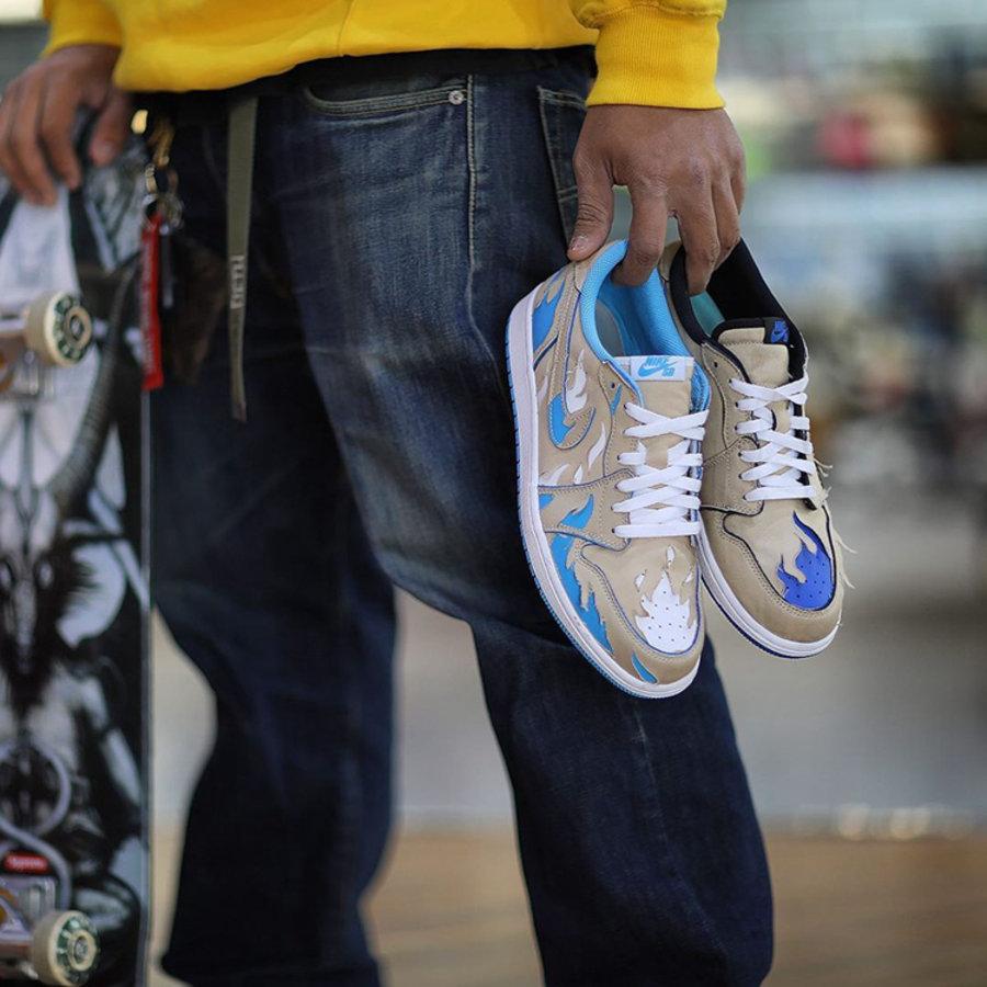 Nike,SB,AJ,AJ1,Air Jordan 1 Lo 今早发售你中了吗?Nike SB x AJ1 Low 还能这样刮!