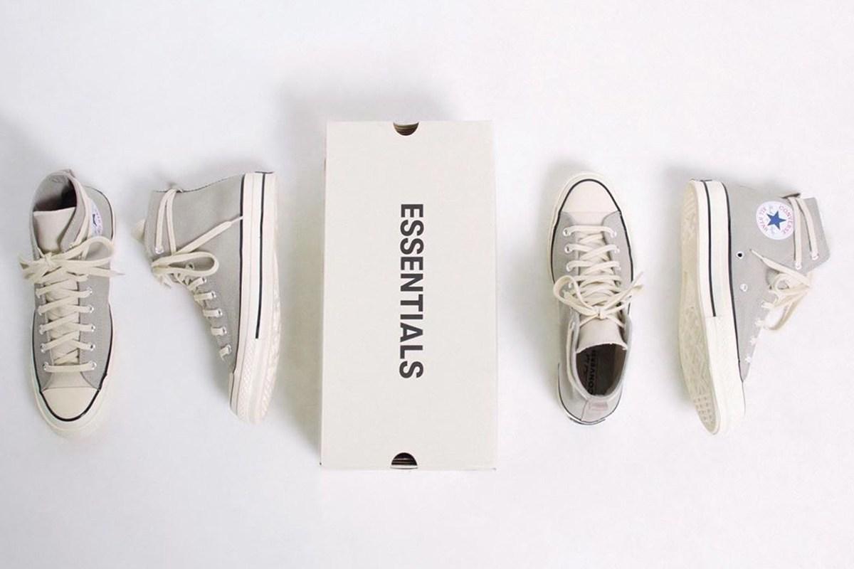 Fear of God,ESSENTIALS,Convers ESSENTIALS x Converse 新联名首度曝光!鞋帮设计很特别!