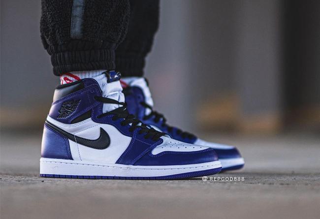 AJ1,Air Jordan 1,555088-500,上脚  紫脚趾 AJ1 上脚照首次曝光!这颜值有多少人爱了?