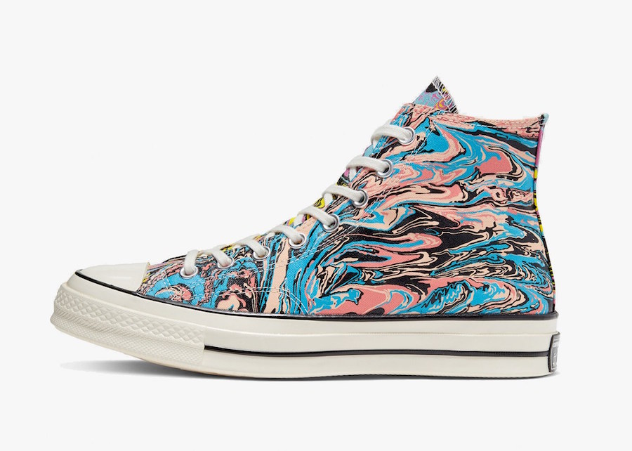Converse,Chuck 70 Hi,167373C,发 迷幻炫彩的油画鞋面!全新配色 Converse Chuck 70 下周发售!