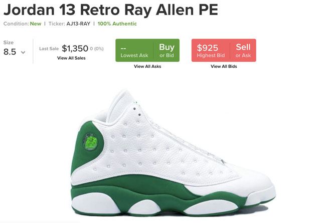 Air Jordan 13,AJ13,Celtics,414 等待多年的雷阿伦 PE 配色!白绿 Air Jordan 13 发售日期曝光!