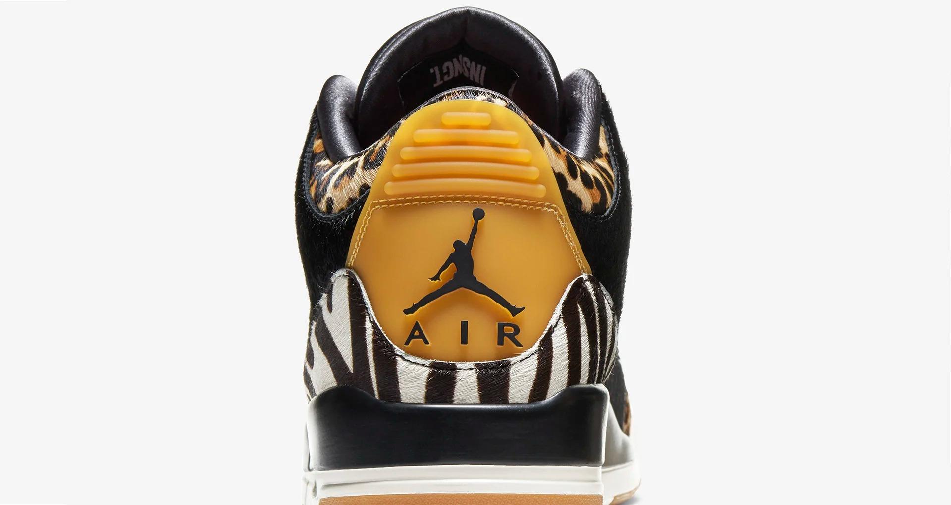 AJ3,Air Jordan 3,Animal Instin 4 种仿动物皮革拼接!「万兽之王」Air Jordan 3 本周发售!