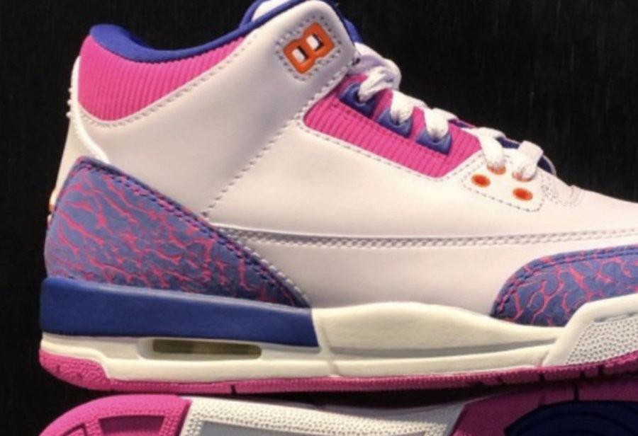 "Air Jordan 3 GS ""Barely Grape"" 货号:441140-500"