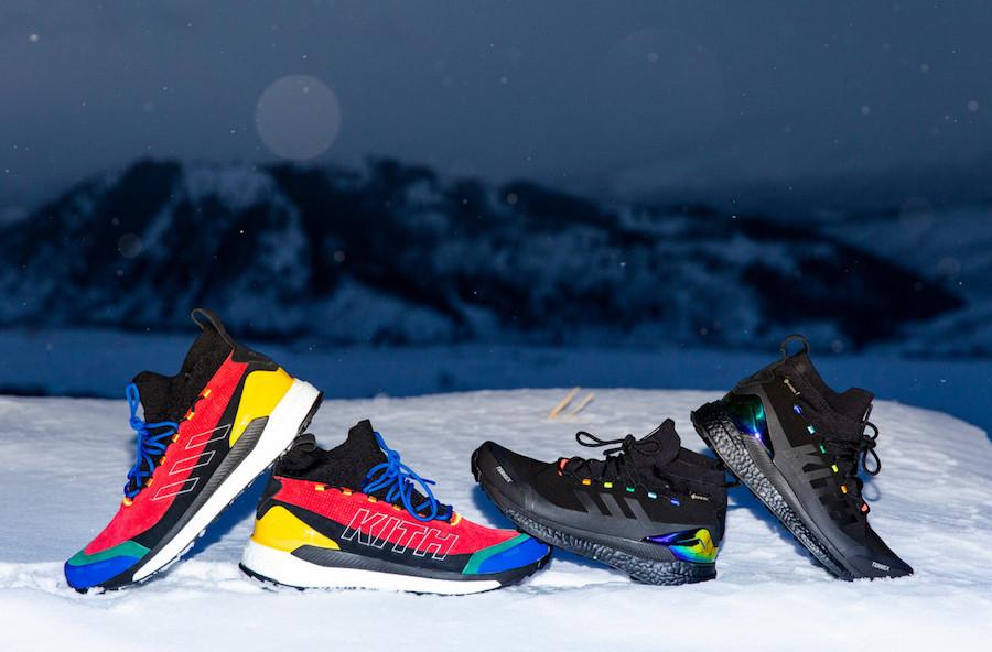 KITH,adidas,Terrex Free Hiker, KITH x adidas 再度联名,偏爱户外机能!2 双醒目新款后天登场!