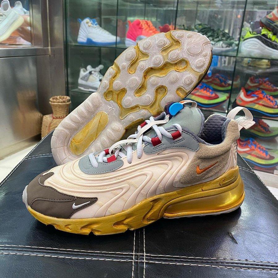 CT2864-200,发售,Air Max 270 Reac 完整实物曝光!Travis Scott x Nike 新鞋明年 3 月发售