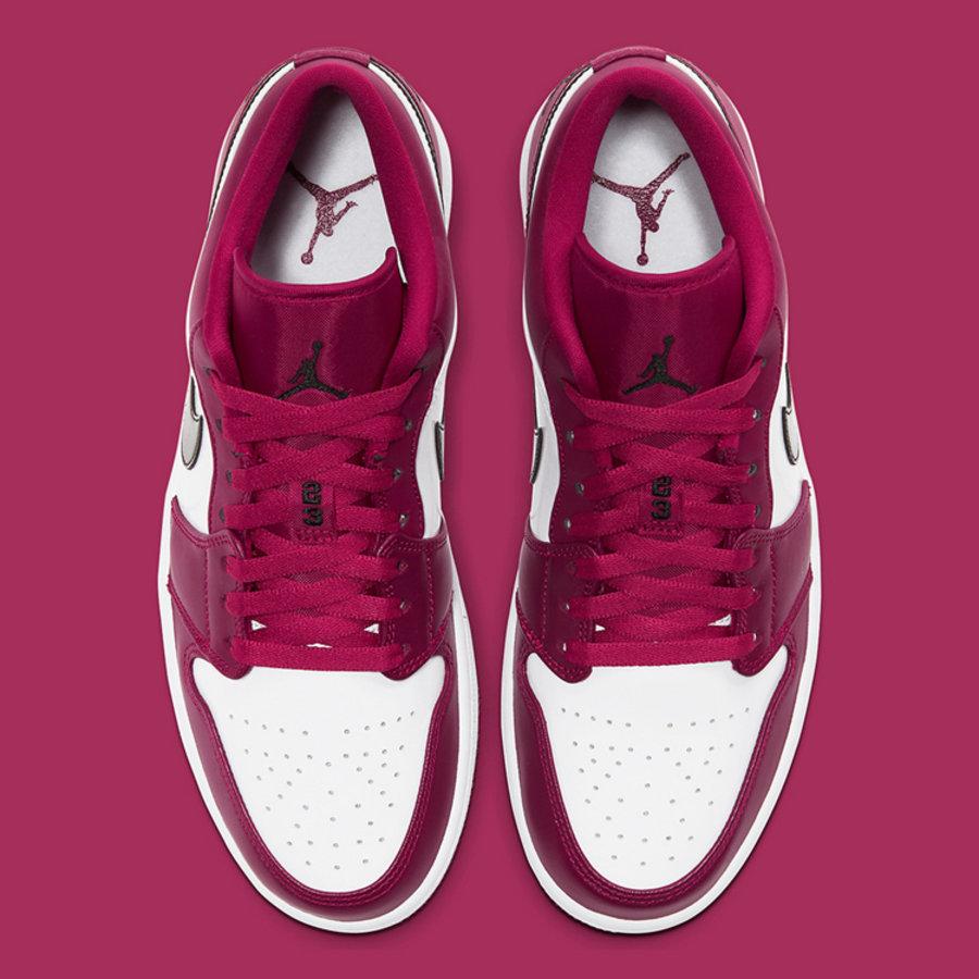 AJ,AJ1 Low,Noble Red,553558-60  小姐姐最爱玫红配色!全新 Air Jordan 1 Low 即将发售!