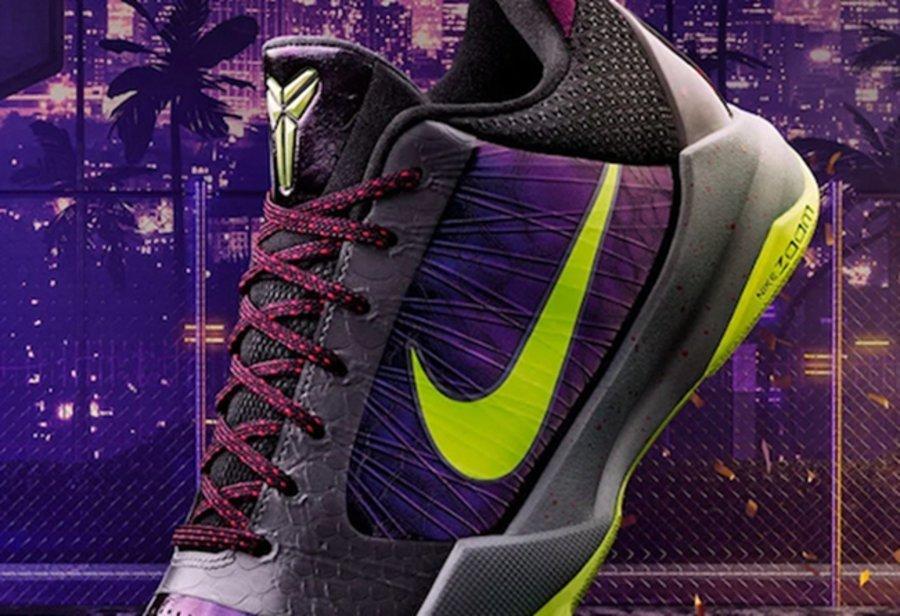 Kobe 5 Protro,2K,发售,Nike 又一双 2K 专属鞋款!暗黑小丑 Kobe 5 Protro 即将发售