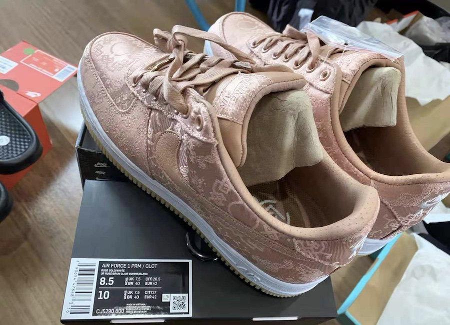 CJ5290-600,CLOT,AF1,Nike CJ5290-600 冠希食言?丝绸 CLOT x AF1 新配色曝光!离发售不到一个月!