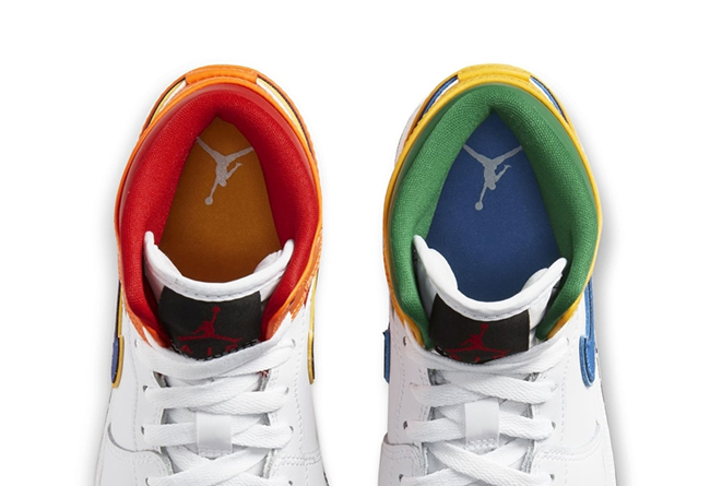 Air Jordan 1,air jordan 1 mid, 糖果鸳鸯配色!这款 Air Jordan 1 Mid 还暗藏精致细节!