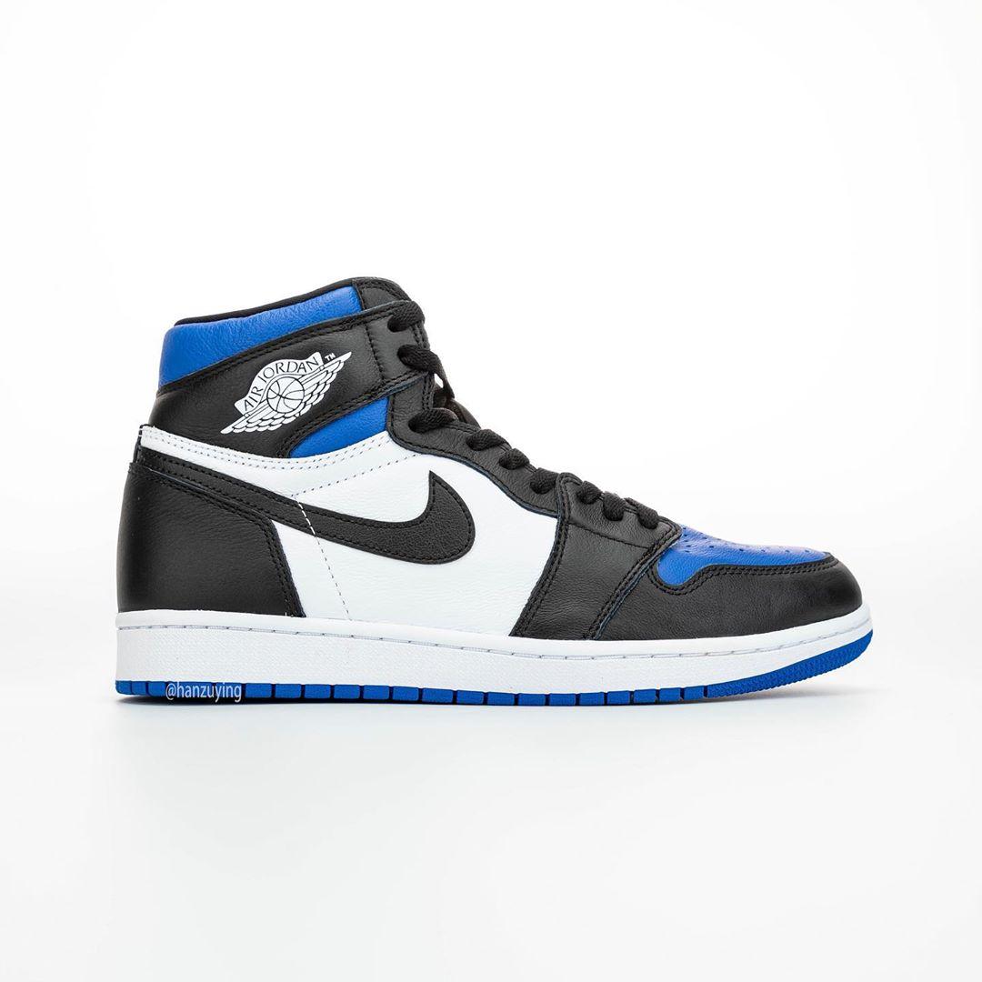AJ1,Air Jordan 1,555088-041,发售 黑蓝脚趾 Air Jordan 1上脚照曝光!明年好看的配色太多了!