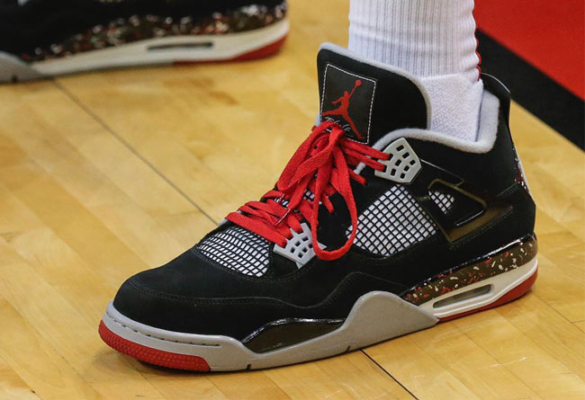 Air Jordan 4,OVO,AJ4,Splatter  鞋王上腳、大牌親曬!要價 1 萬刀的 Drake 專屬 AJ4 再度現身