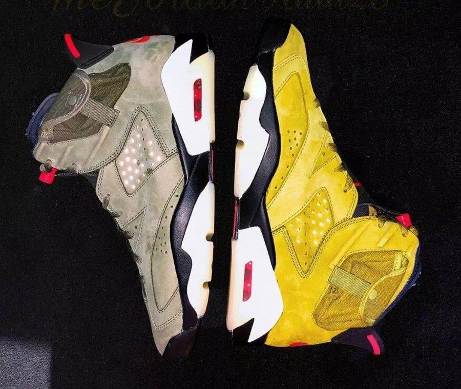Travis Scott,AJ6,Air Jordan 6, Jordan 官方辟谣:黄色 TS x AJ6 不会在 3 月发售!但是...