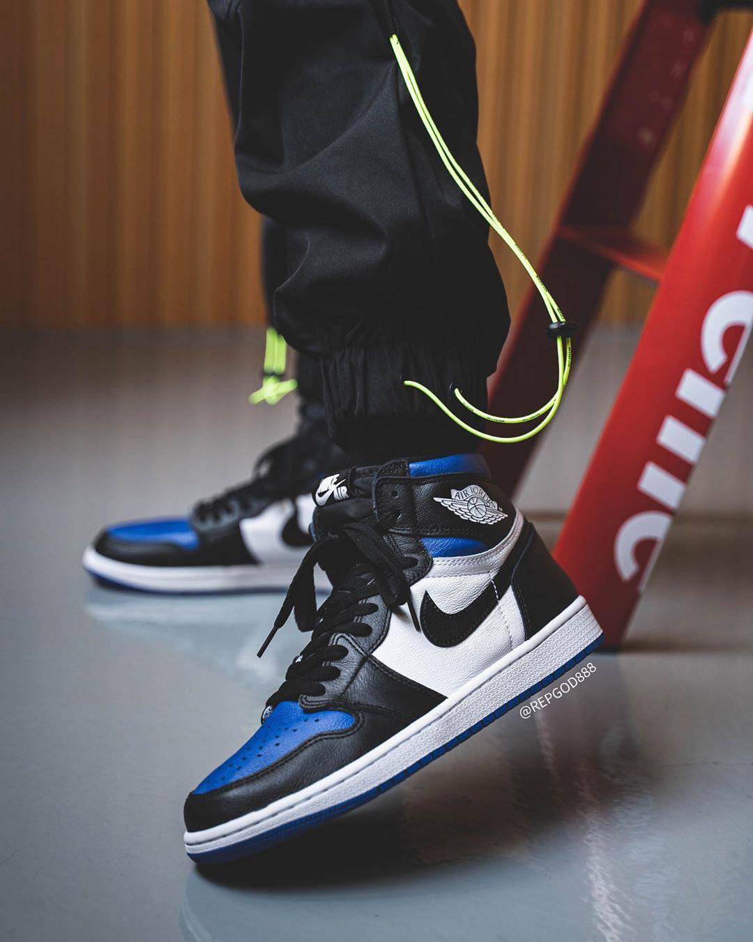 AJ1,Air Jordan 1,555088-041,发售 黑蓝脚趾 AJ1 五月发售!想好怎么配鸳鸯了吗?
