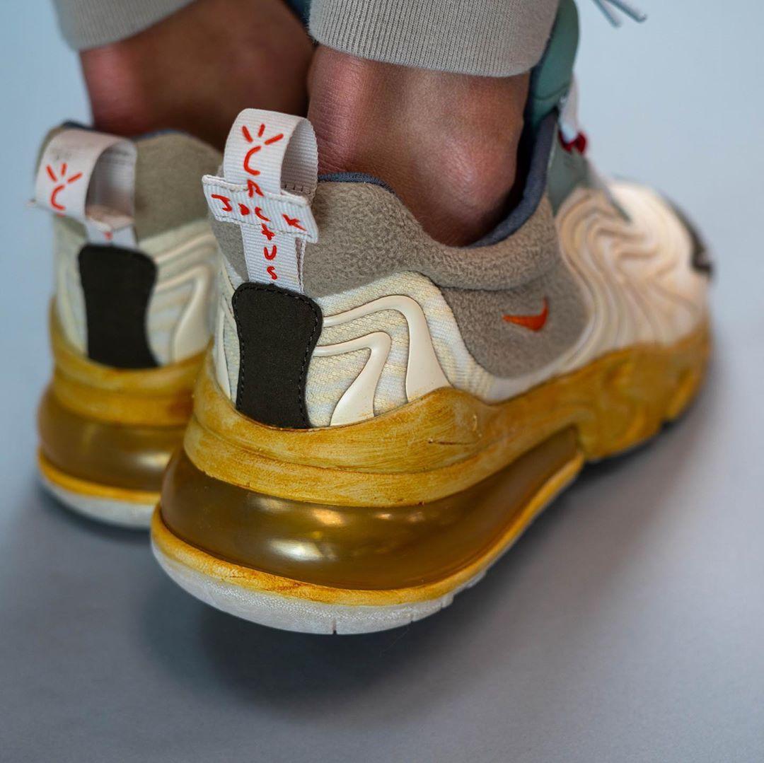 Travis Scott,Nike,Air Max 270 夸张做旧效果!TS x Nike 联名新鞋上脚来了!3 月发售!