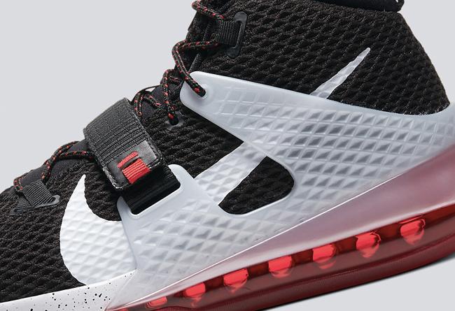 Air Force Max II,Nike,发售,AV624 难得一见的全掌大气垫!Air Force Max II 黑红配色即将发售