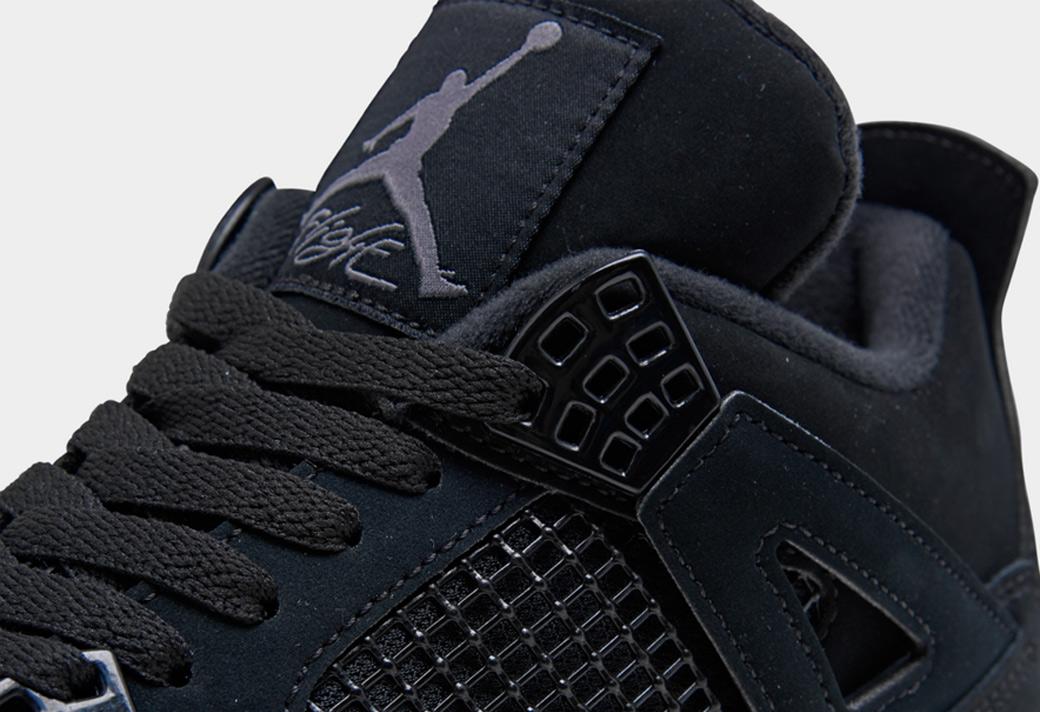 "CU1110-010,AJ4,Air Jordan 4 期待已久!黑猫 Air Jordan 4 ""Black Cat"" 本月发售!"