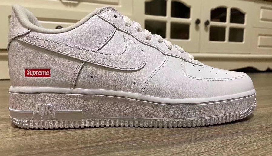 Supreme,Nike,AF1,Air Force 1,  Supreme x AF1 Low 实物首次曝光!看完这设计你最想说什么?