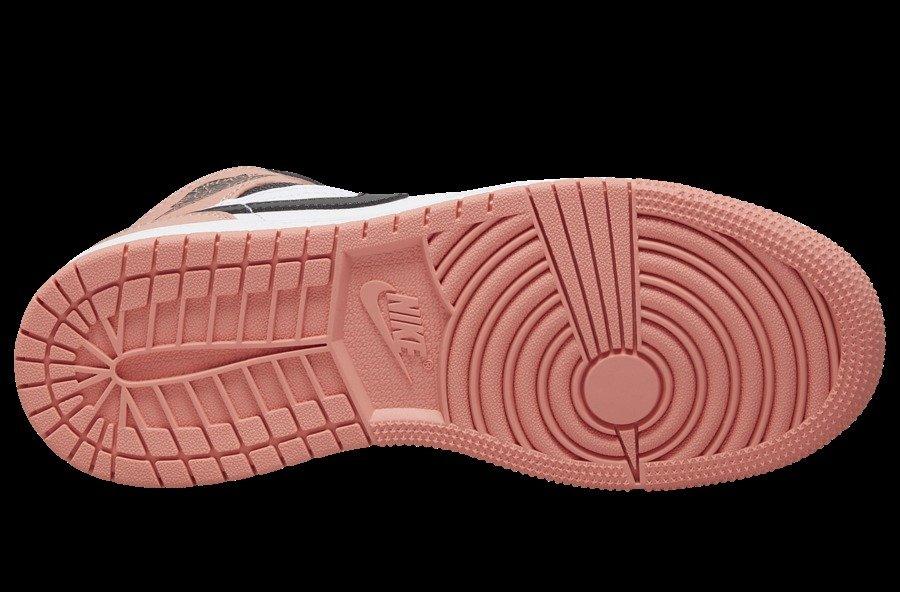 AJ1,Air Jordan 1 Mid,555112-60 樱花粉 Air Jordan 1 Mid 春季发售!只可惜...