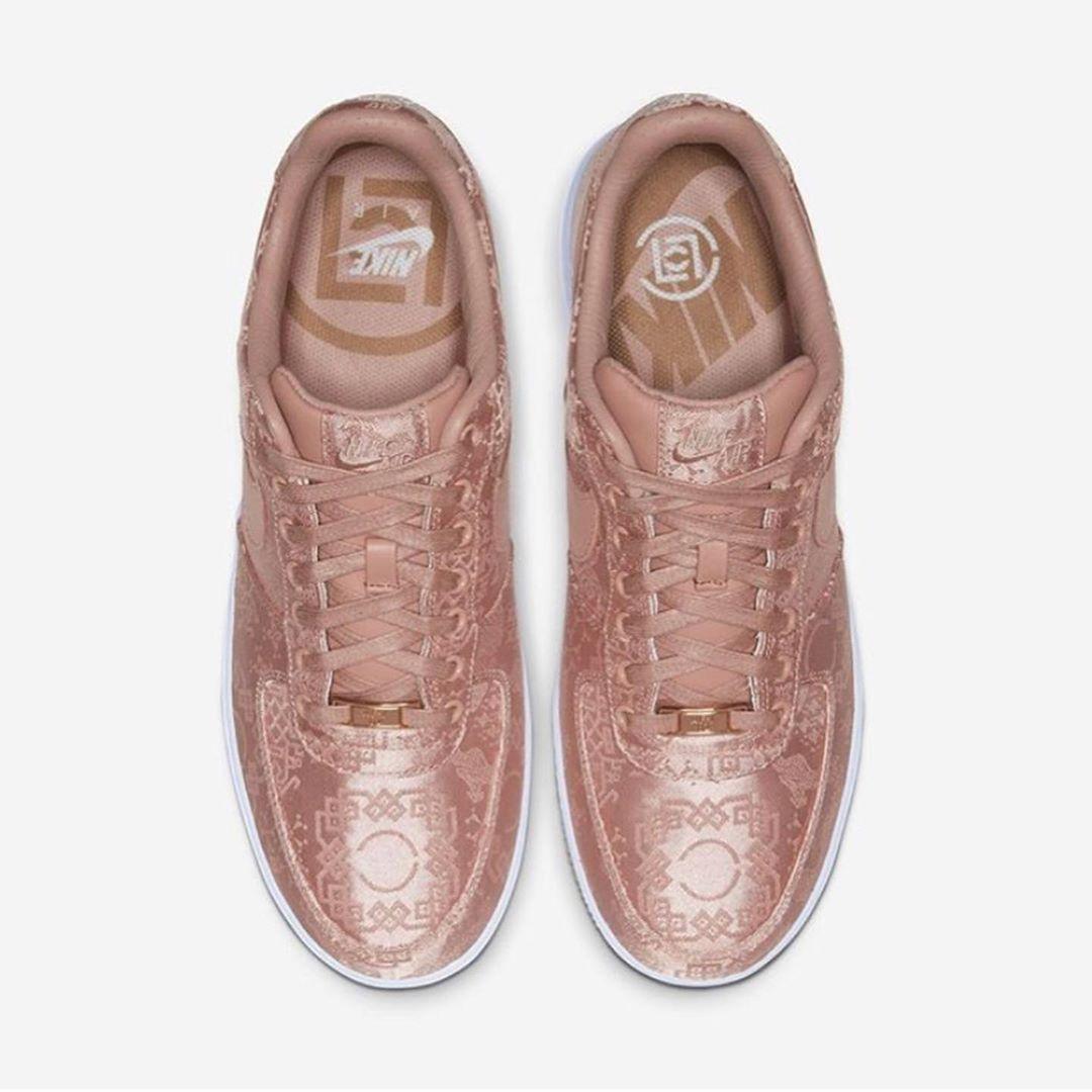 CLOT,Nike,Air Force 1,发售,明星,上脚 登记倒计时!冠希上脚玫瑰金丝绸 CLOT x AF1!下周发售!