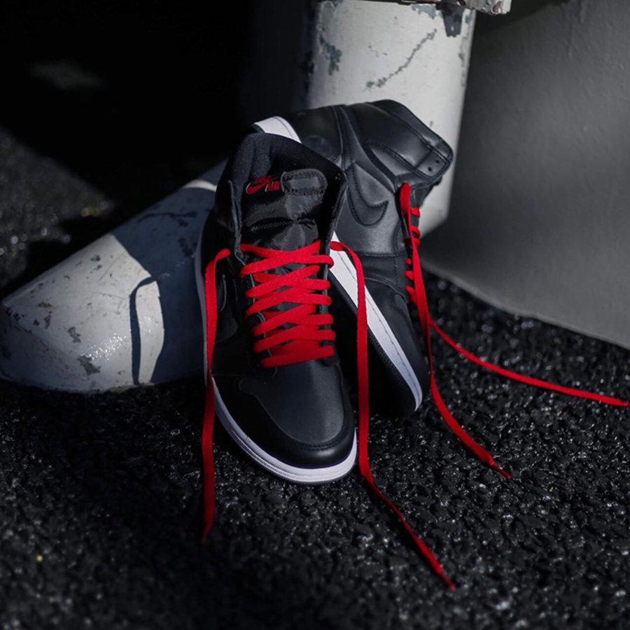 AJ,AJ1,Air Jordan 1 High OG,Bl  明早发售别错过!「黑红丝绸」Air Jordan 1 最新美图来啦!