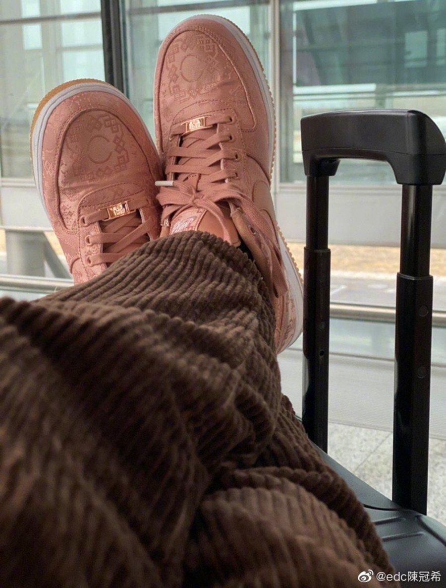 CLOT,Nike,Air Force 1 Low,Rose  玫瑰金丝绸 CLOT x AF1 撕开效果曝光!发售信息汇总!